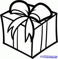 Фото рождественскую коробку с подарком