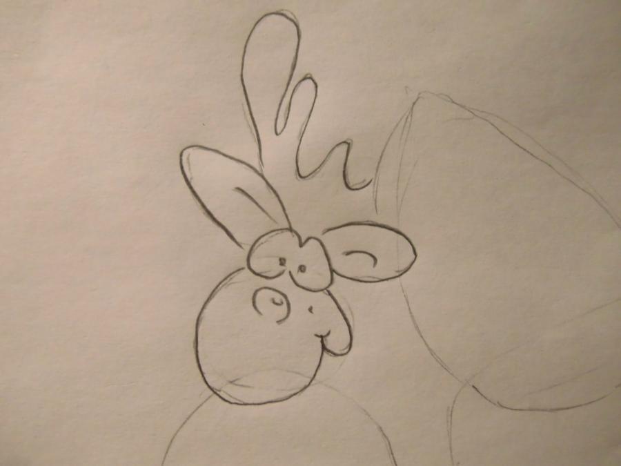 Рисуем Санту и оленя