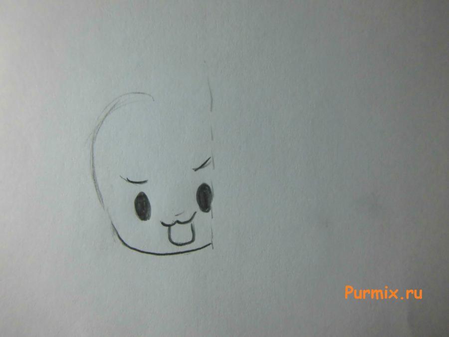 Рисуем счастливую чиби в новогоднем костюме - фото 1