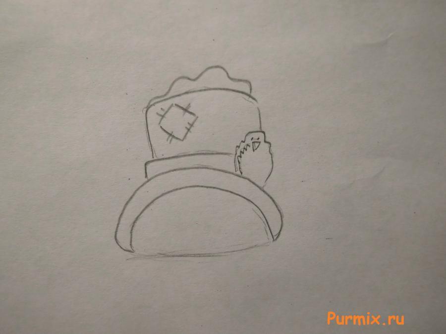 Рисуем красивого снеговика на Новый Год - шаг 1