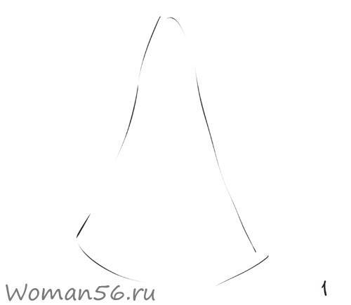 Рисуем снегурочку - фото 1
