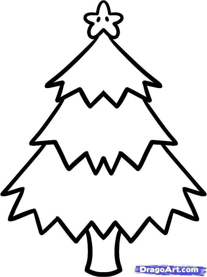 Как просто нарисовать новогоднюю елку - шаг 6