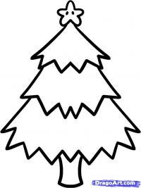 Как просто нарисовать новогоднюю елку карандашом