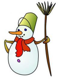 Как просто нарисовать снеговика карандашом