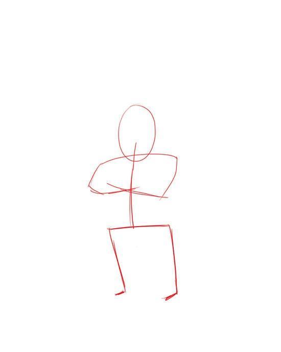 Как рисовать новогоднего эльфа на бумаге