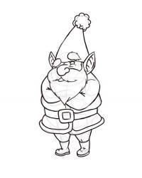 Как рисовать новогоднего эльфа на бумаге карандашом
