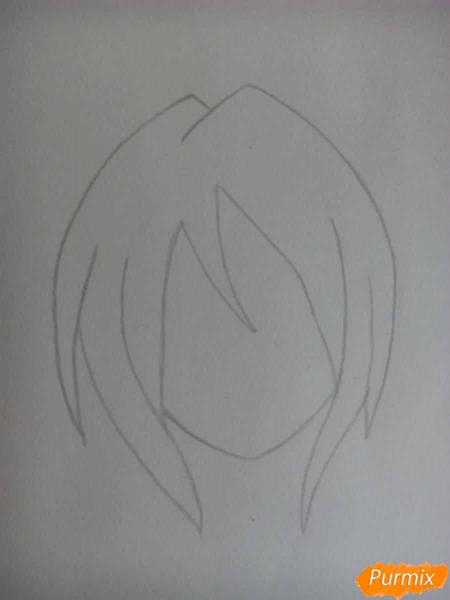 Рисуем Бонни в облике человека - шаг 2