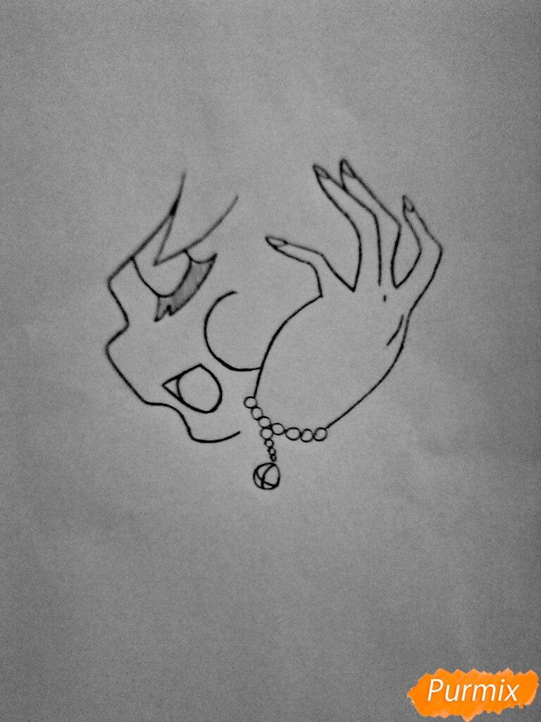 Рисуем Чику из игры Пять Ночей с Фредди в образе девушки - шаг 3