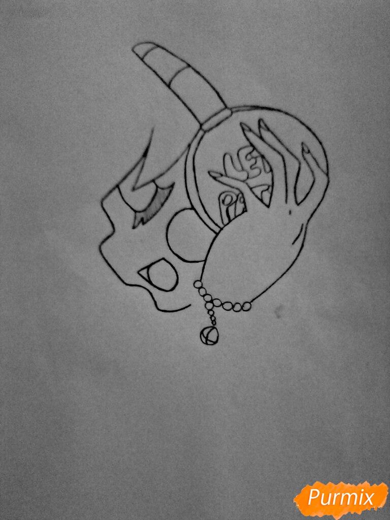 Рисуем Чику из игры Пять Ночей с Фредди в образе девушки - шаг 4