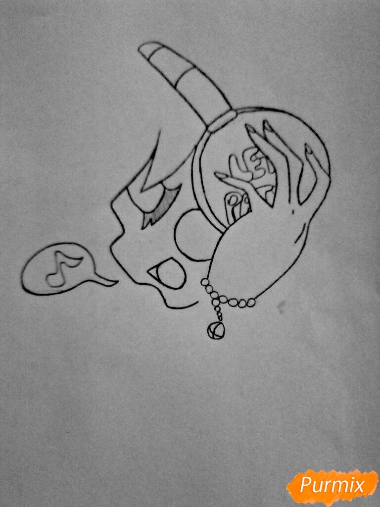 Рисуем Чику с наушниками в образе девушки - шаг 5