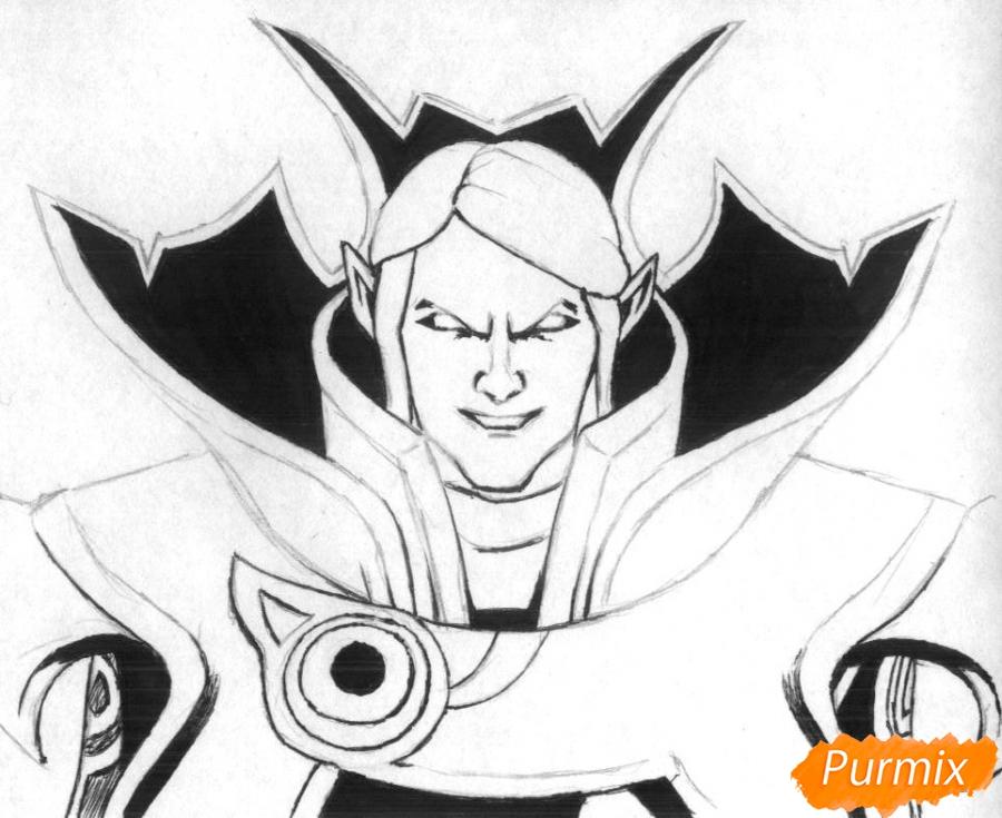 Рисуем героя Invoker из игры Dota 2 - фото 2