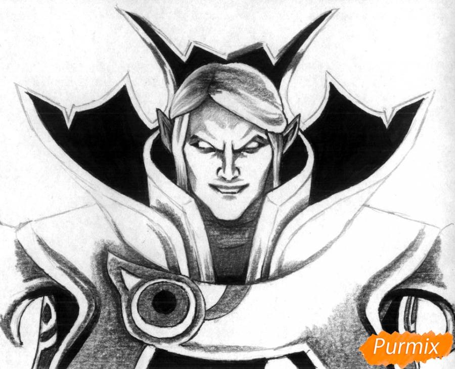 Рисуем героя Invoker из игры Dota 2 - фото 3