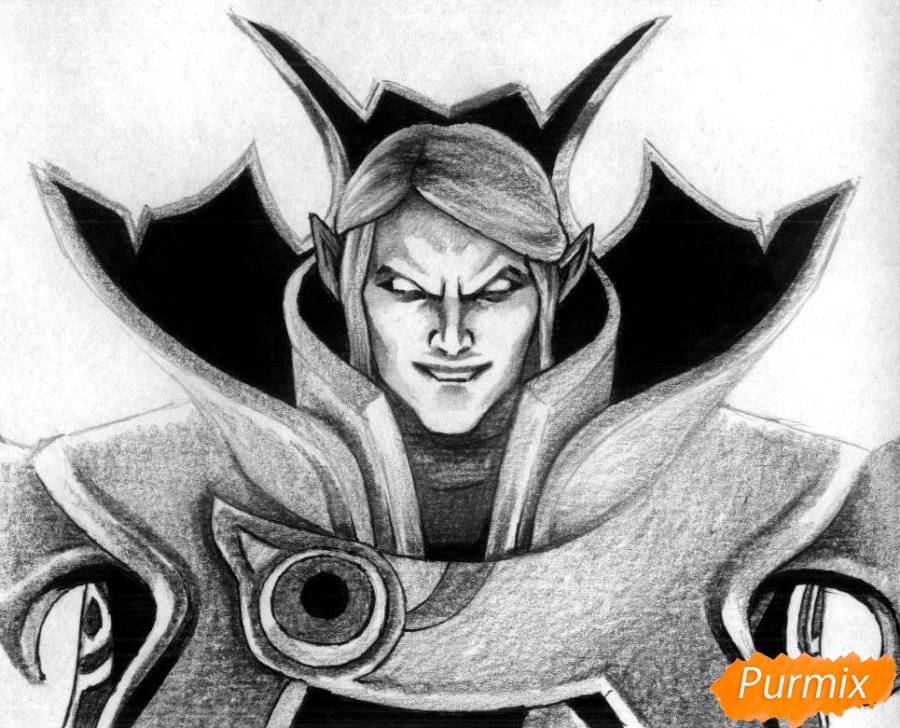 Рисуем героя Invoker из игры Dota 2 - фото 4