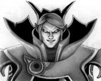 Рисунок героя Invoker из игры Dota 2