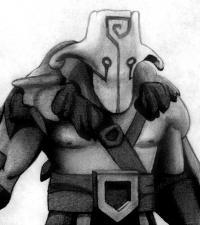 героя Juggernaut карандашом