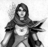 Рисунок героя Windranger из игры Dota 2