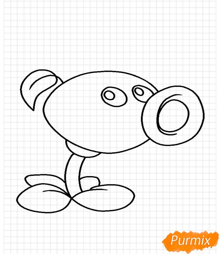 Рисуем Горохострел из игры Растения Против Зомби - шаг 10