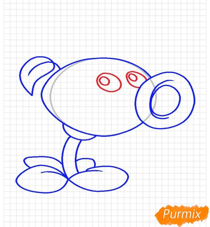 Рисуем Горохострел из игры Растения Против Зомби - шаг 9