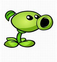 Рисунок Горохострел из игры Растения Против Зомби