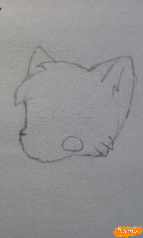 Рисуем Мангл в виде кошки - шаг 1