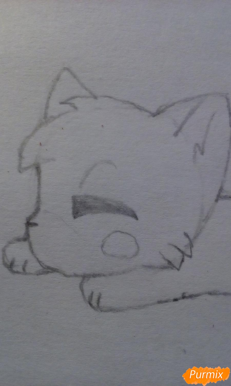 Рисуем Мангл в виде кошки - шаг 6