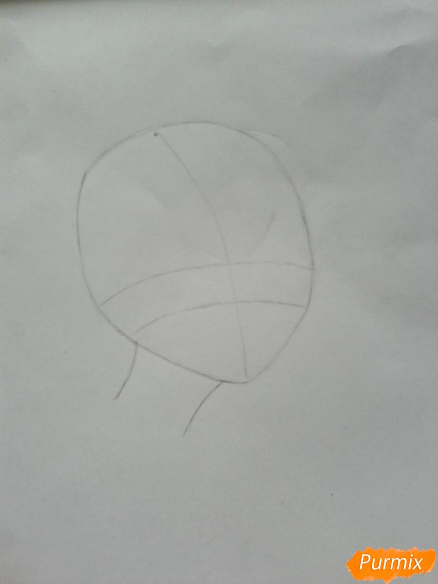Рисуем Салли из игры Sally Face карандашами - шаг 1