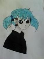 Рисунок Салли из игры Sally Face
