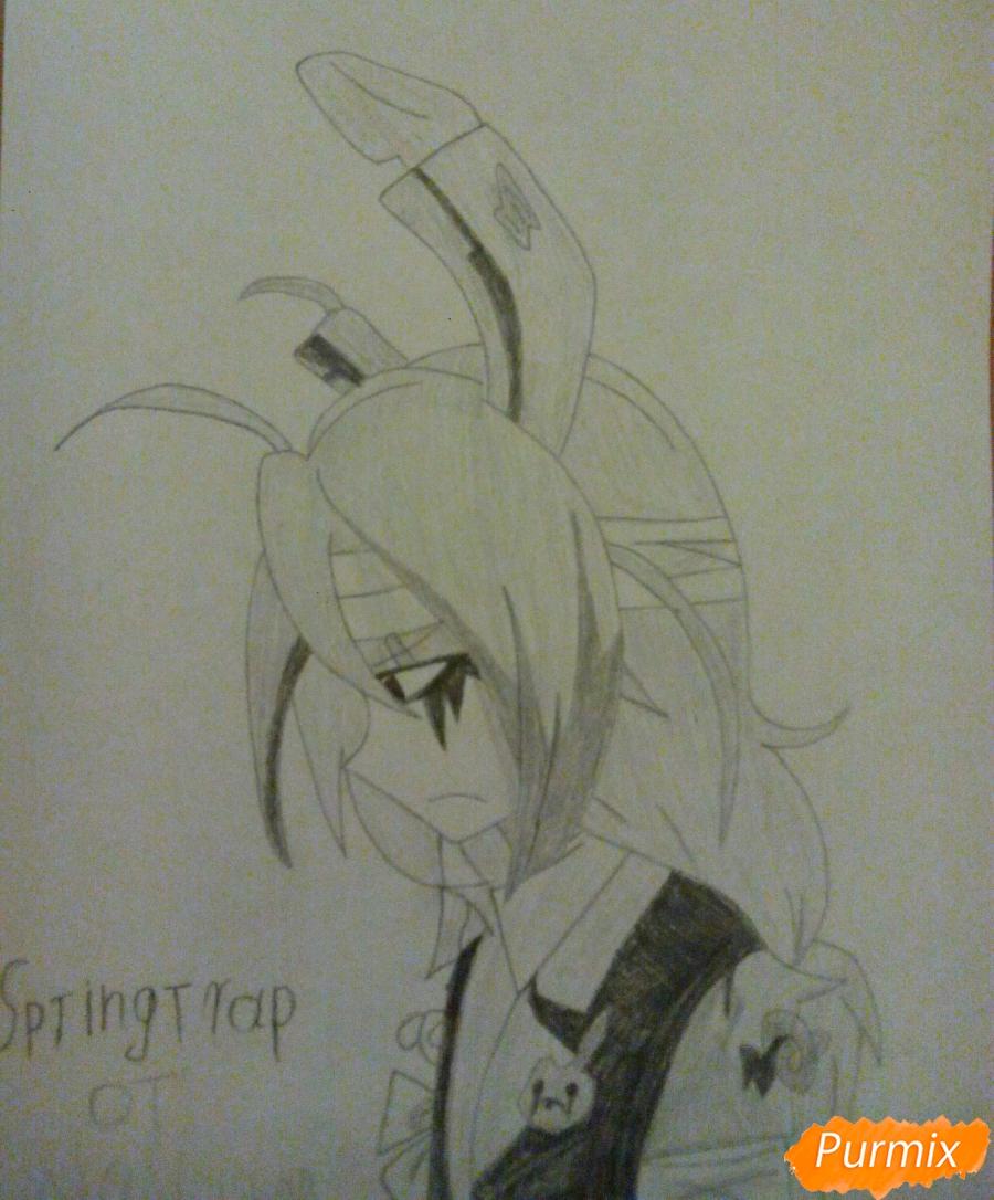 Как нарисовать Спрингтрапа в стиле аниме поэтапно