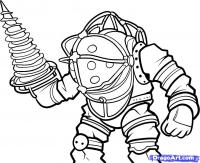 Big Daddy из  Bioshock карандашом