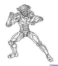Cyber Sub-Zero из Mortal Kombat карандашом