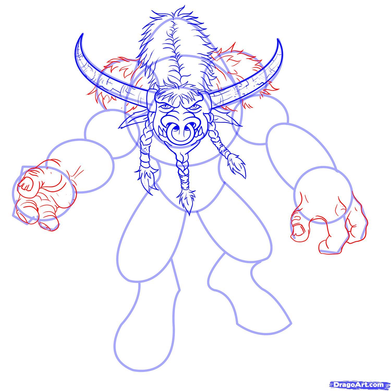Рисуем Таурена из World of Warcraft