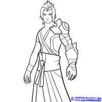Terra из Kingdom Hearts карандашом