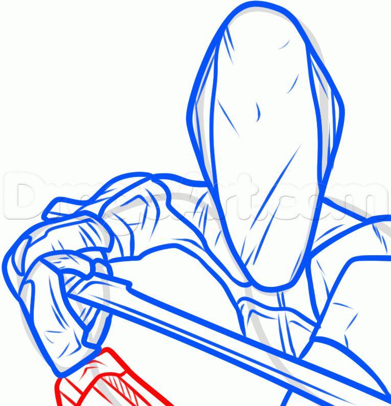 Рисуем Зер0 из игры Borderlands (Пограничье)