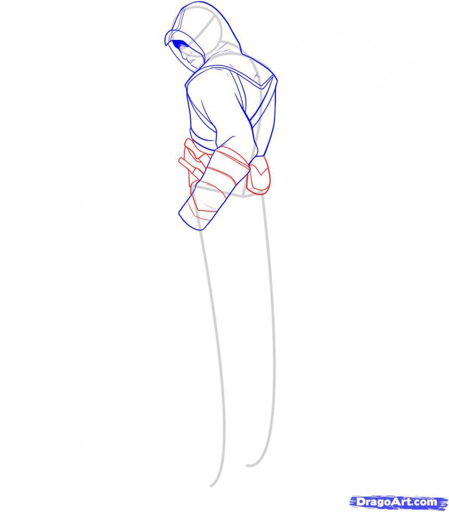 Рисуем Альтаира из игры Assassins Creed - фото 7