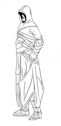 Как нарисовать Альтаира в полный рост из видеоигры Assassins Creed