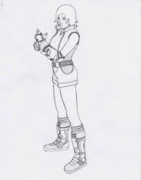 Как нарисовать Аску Казама из Теккен карандашом поэтапно