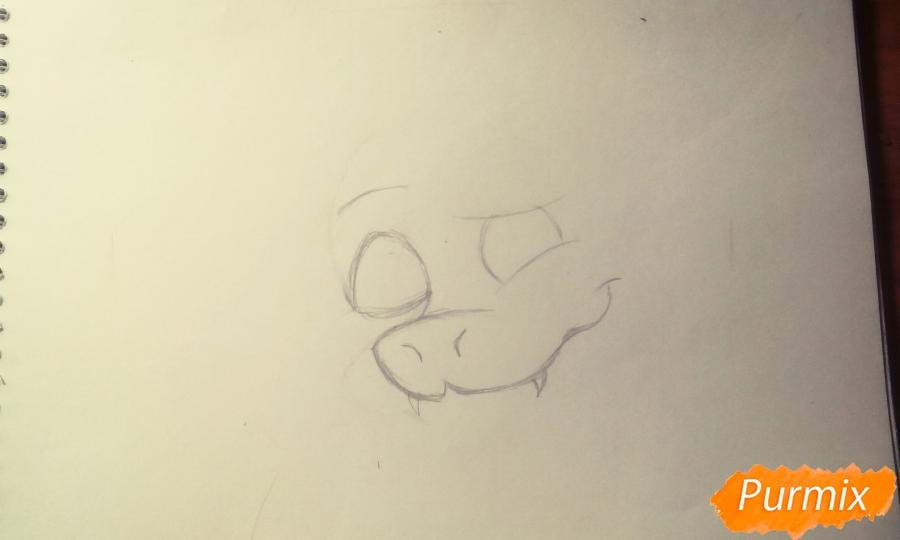 Как нарисовать Азриэля из игры Undertale карандашами и ручкой поэтапно - шаг 1