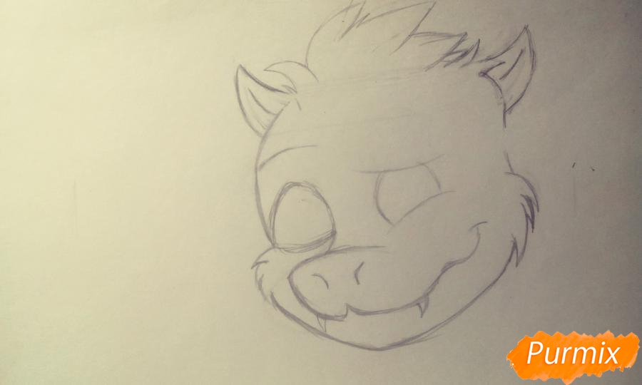Как нарисовать Азриэля из игры Undertale карандашами и ручкой поэтапно - шаг 2