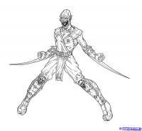Фото Бараку из Mortal Kombat  карандашом