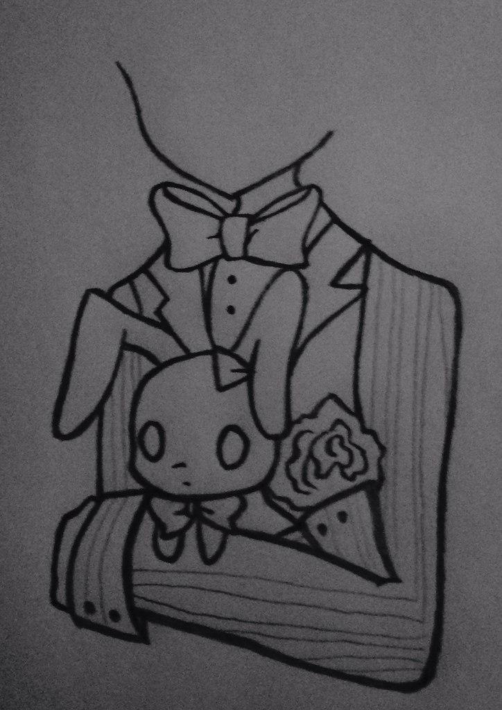 Рисуем Бонни с милыми кроликами - шаг 6