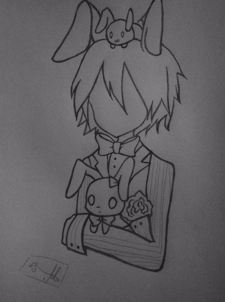 Рисуем Бонни с милыми кроликами - шаг 7