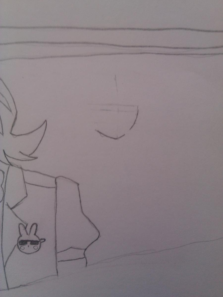 Рисуем Бонни, Той Бонни и Спрингтрап из игры Пять ночей у Фредди карандашами - шаг 5