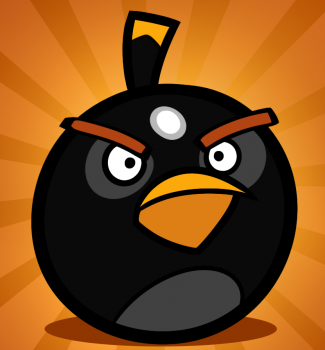Рисуем Чёрную птицу-бомбу из Angry Birds