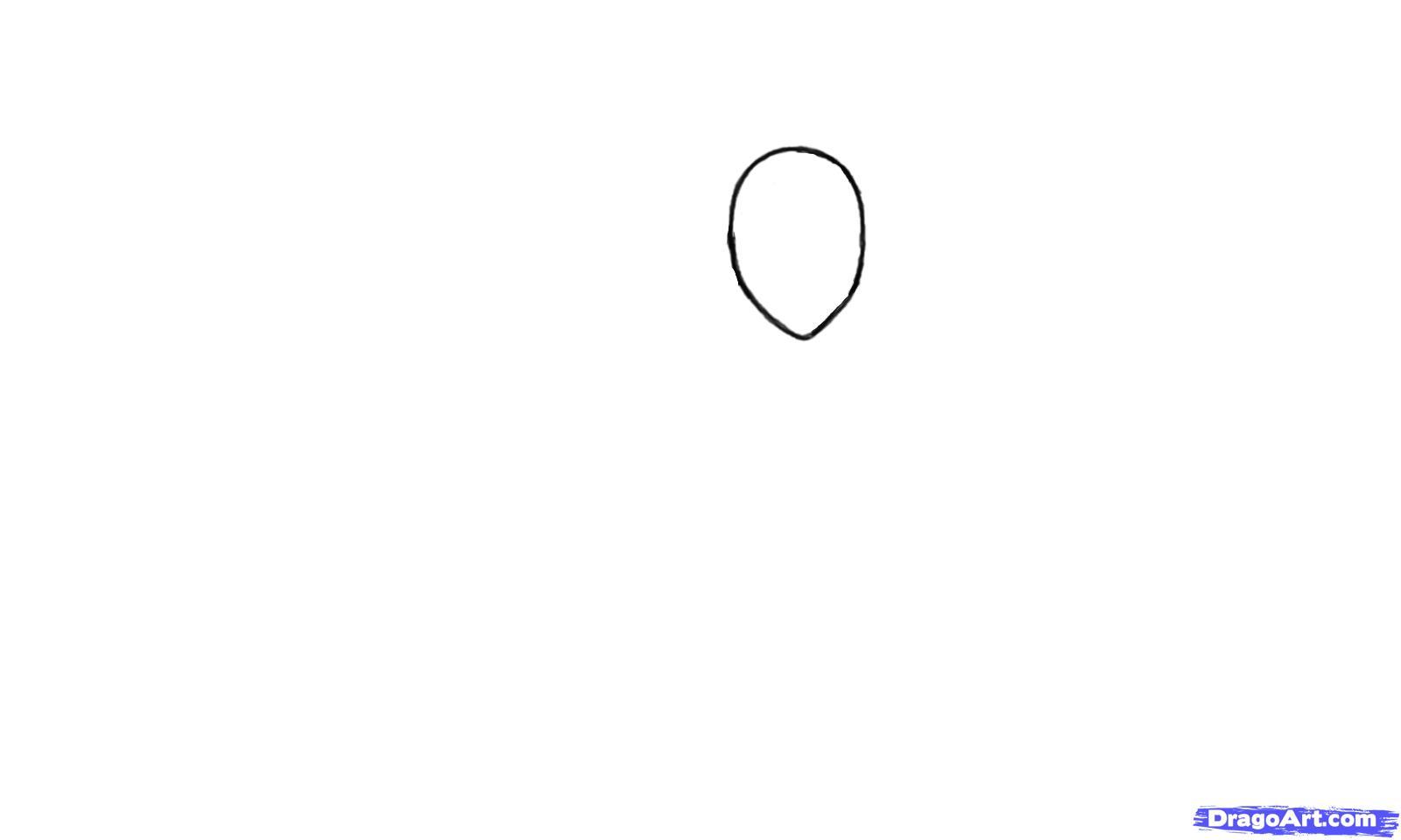 Рисуем Эцио в профиль из Assassins Creed - шаг 1