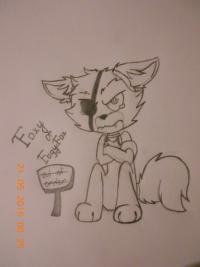 Фокси из FNaF карандашом