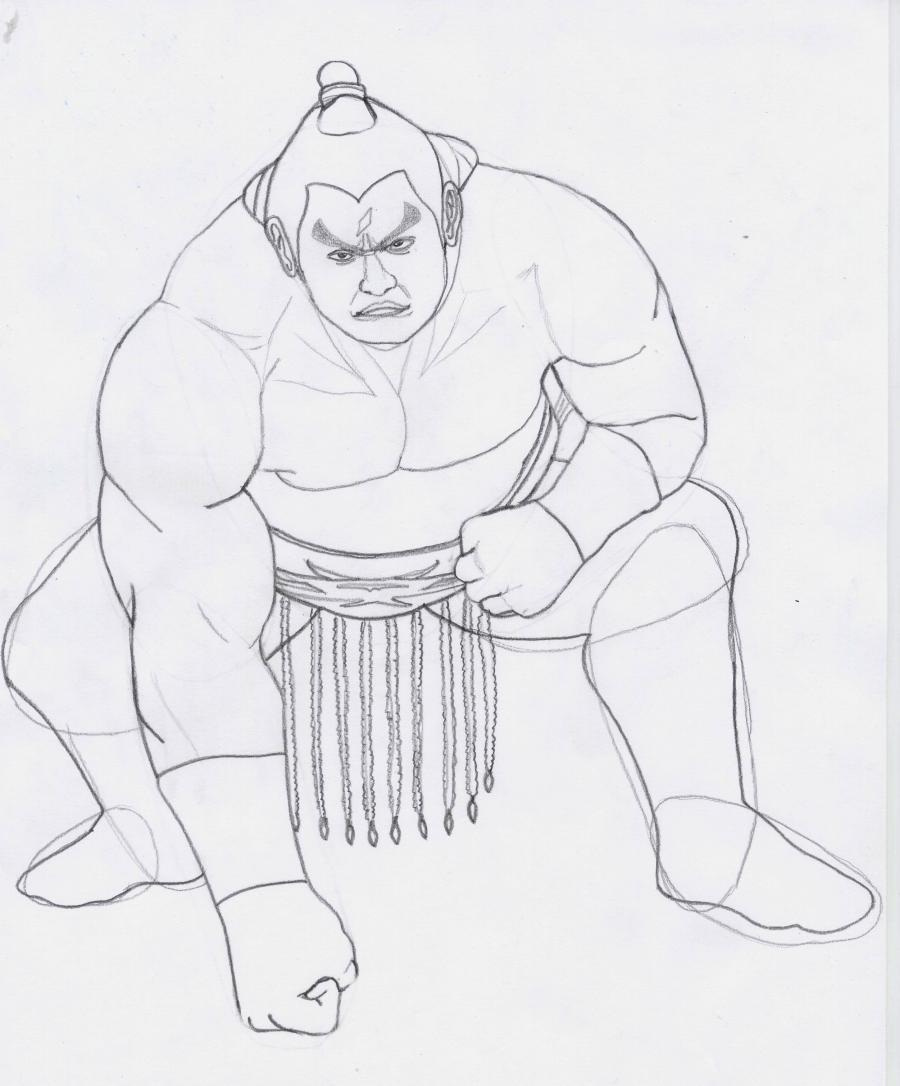 Рисуем Ганрю из Tekken