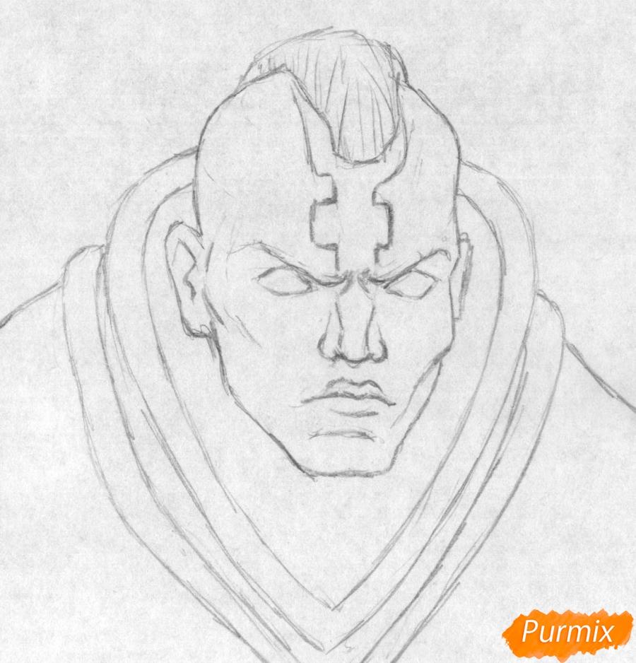 Рисуем героя Anti-Mage из игры Dota 2 - шаг 1