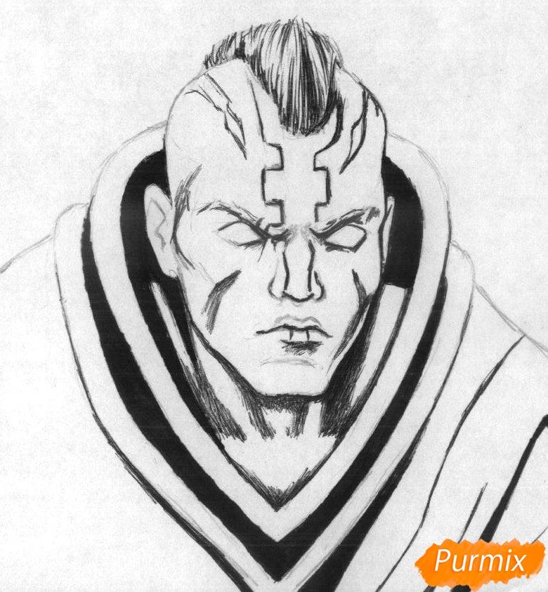 Рисуем героя Anti-Mage из игры Dota 2 - шаг 2