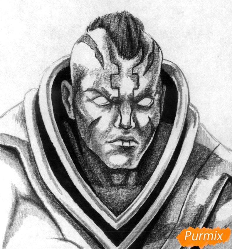 Рисуем героя Anti-Mage из игры Dota 2 - шаг 3