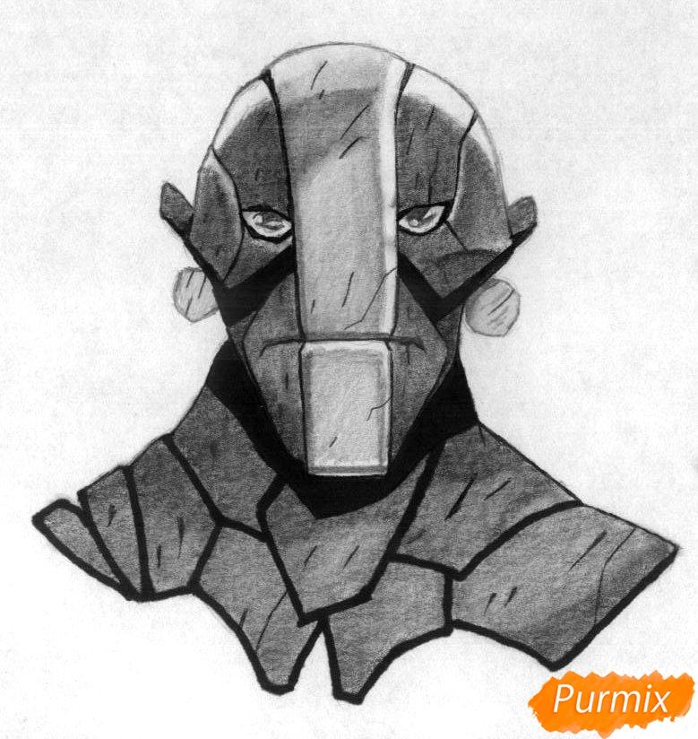 Как нарисовать героя Earth Spirit из игры Dota 2 карандашом поэтапно